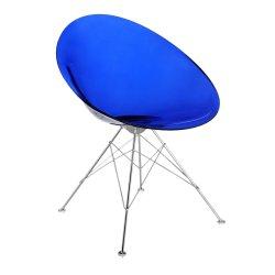 Scaun Kartell Ero/S/ design Philippe Stark, albastru transparent