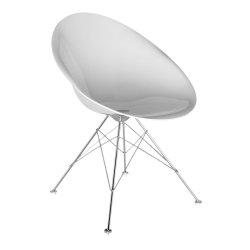 Scaun Kartell Ero/S/ design Philippe Stark, alb lucios