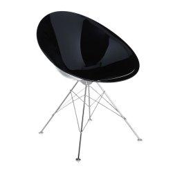 Scaun Kartell Ero/S/ design Philippe Stark, negru lucios