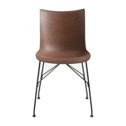Scaun Kartell Smart Wood P/Wood design Philippe Stark, Basic Veneer, Dark wood, picioare negre