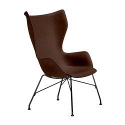 Canapele & Fotolii Fotoliu Kartell Smart Wood K/Wood design Philippe Stark, Basic Veneer, Dark wood, picioare negre