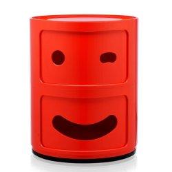 Default Category SensoDays Comoda modulara Kartell Componibili 2 Smile Wink, design Anna Castelli Ferrieri, rosu