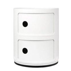 Default Category SensoDays Comoda modulara Kartell Componibili 2 design Anna Castelli Ferrieri, alb