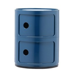 Comoda modulara Kartell Componibili 2 design Anna Castelli Ferrieri, albastru