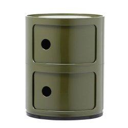 Default Category SensoDays Comoda modulara Kartell Componibili 2 design Anna Castelli Ferrieri, verde