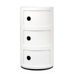 Default Category SensoDays Comoda modulara Kartell Componibili 3 design Anna Castelli Ferrieri, alb