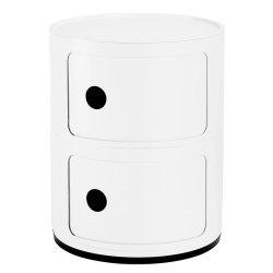 Default Category SensoDays Comoda modulara Kartell Componibili 2 design Anna Castelli Ferrieri, alb mat