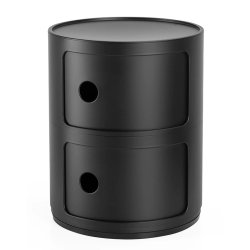 Mobilier Comoda modulara Kartell Componibili 2 design Anna Castelli Ferrieri, negru mat