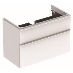 Dulapuri si blaturi pentru lavoare baie Dulap baza Geberit Smyle Square cu 2 sertare, 90cm, alb lucios