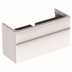 Default Category SensoDays Dulap baza Geberit Smyle Square cu 2 sertare, 120cm, alb lucios