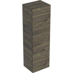 Dulap suspendat Geberit Smyle Square, o usa cu inchidere lenta, 36x30x118cm, nuc american
