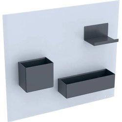Default Category SensoDays Panou magnetic Geberit Acanto cu cutii depozitare alb mat  - lava mat
