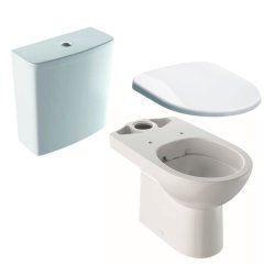 Default Category SensoDays Set complet vas WC Geberit Selnova Rimfree cu rezervor asezat si capac inchidere lenta