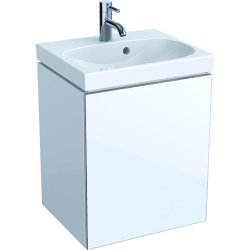 Mobilier de baie Dulap baza Geberit Acanto 44.5x37.5cm cu o usa sticla alba, corp alb lucios