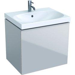 Default Category SensoDays Dulap baza Geberit Acanto 59.5x47.5cm cu un sertar sticla gri nisip, corp gri nisip mat