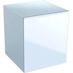 Dulapuri baie suspendate Dulap suspendat Geberit Acanto 45xx47.6x52cm, cu un sertar sticla alba, corp alb lucios