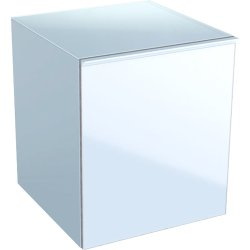 Default Category SensoDays Dulap suspendat Geberit Acanto 45xx47.6x52cm, cu un sertar sticla alba, corp alb lucios