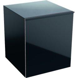 Dulapuri baie suspendate Dulap suspendat Geberit Acanto 45xx47.6x52cm, cu un sertar sticla negru, corp negru mat