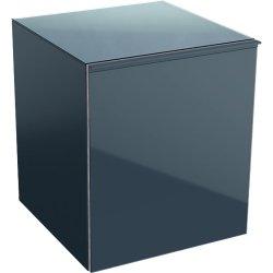 Default Category SensoDays Dulap suspendat Geberit Acanto 45xx47.6x52cm, cu un sertar sticla negru lava, corp negru lava mat