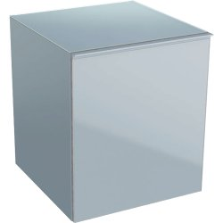 Dulapuri baie suspendate Dulap suspendat Geberit Acanto 45xx47.6x52cm, cu un sertar sticla gri nisip, corp gri nisip mat