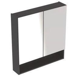 Default Category SensoDays Dulap dublu cu oglinda Geberit Selnova Square 78.8cm, lava mat
