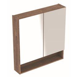 Default Category SensoDays Dulap dublu cu oglinda Geberit Selnova Square 78.8cm, nuc american