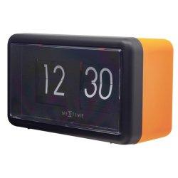 Produse Noi Ceas de masa NeXtime Flip 18x10x7cm, portocaliu-negru