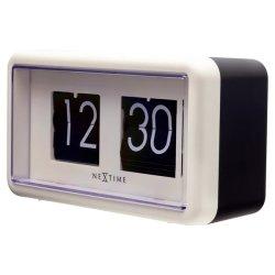 Produse Noi Ceas de masa NeXtime Flip 18x10x7cm, negru-alb