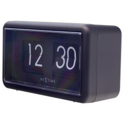 Produse Noi Ceas de masa NeXtime Flip 18x10x7cm, negru