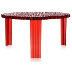 Masute de cafea Masuta Kartell T-Table design Patricia Urquiola, 50cm, h 28cm, rosu transparent