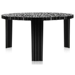 Masute de cafea Masuta Kartell T-Table design Patricia Urquiola, 50cm, h 28cm, negru