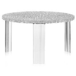 Masute de cafea Masuta Kartell T-Table design Patricia Urquiola, 50cm, h 28cm, transparent