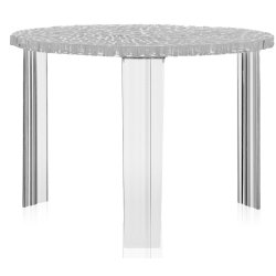 Masute de cafea Masuta Kartell T-Table design Patricia Urquiola, 50cm, h 36cm, transparent