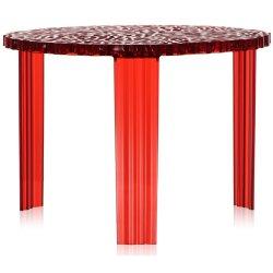 Default Category SensoDays Masuta Kartell T-Table design Patricia Urquiola, 50cm, h 36cm, rosu transparent