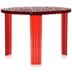 Masute de cafea Masuta Kartell T-Table design Patricia Urquiola, 50cm, h 36cm, rosu transparent