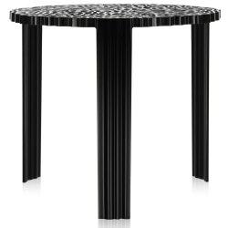 Masute de cafea Masuta Kartell T-Table design Patricia Urquiola, 50cm, h 44cm, negru