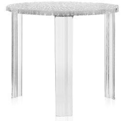 Masute de cafea Masuta Kartell T-Table design Patricia Urquiola, 50cm, h 44cm, transparent