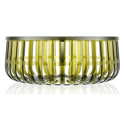 Default Category SensoDays Masuta Kartell Panier design Ronan & Erwan Bouroullec, 61cm, h 21cm, verde transparent