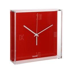 Default Category SensoDays Ceas Kartell Tic&Tac design Philippe Starck & Eugeni Quitllet, 30x30cm, rosu
