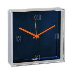 Ceas Kartell Tic&Tac design Philippe Starck & Eugeni Quitllet, 30x30cm, albastru metalizat