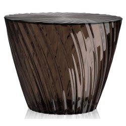 Masute de cafea Masuta Kartell Sparkle design Tokujin Yoshioka, diametru 45cm, h 35cm, fumuriu transparent