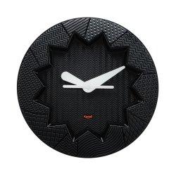 Ceasuri Ceas Kartell Crystal Palace design Alessandro Mendini, 19cm, negru