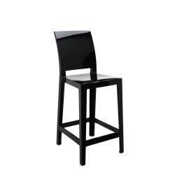 Scaun inalt Kartell One More Please design Philippe Starck, 65cm, negru