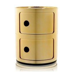 Default Category SensoDays Comoda modulara Kartell Componibile 2 design Anna Castelli Ferrieri, auriu metalizat