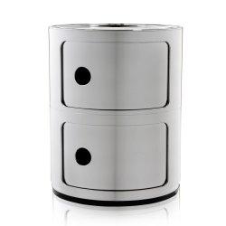 Default Category SensoDays Comoda modulara Kartell Componibile 2 design Anna Castelli Ferrieri, crom metalizat