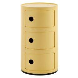 Default Category SensoDays Comoda modulara Kartell Componibili Bio 3 design Anna Castelli Ferrieri, galben
