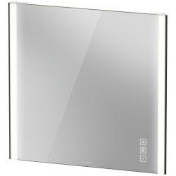 Oglinzi baie & Oglinzi cosmetice Oglinda Duravit XViu cu iluminare LED 82x80cm, cu incalzire si actionare pe senzor, margini negru mat