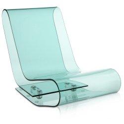 Canapele & Fotolii Sezlong Kartell L C P, design Maarten van Severen, albastru transparent