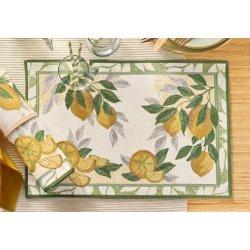 Textile decorative de masa Suport farfurii Sander Gobelins Lemon 32x48cm, 40 natur