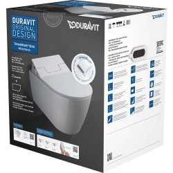 Obiecte sanitare Set vas WC suspendat Duravit ME by Stark si capac slim SensoWash cu functie de bideu